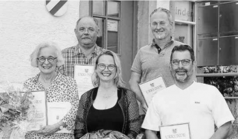 Verabschiedung der aus dem Neuweiler Ortschaftsrat ausscheidenden Gremiumsmitglieder